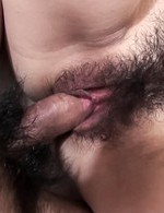 Hiromi Asian gets dong in hairy vagina and sperm in mouth after
