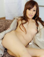 Yuu Kusunoki Asian fondles clit and boobies while is screwed