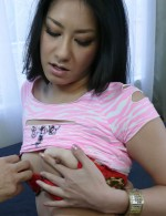 Ishiguro Kyoka goes wild riding cock with her bushy hole