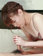 Kana Mimura Asian is so skilled at licking and sucking hard cock