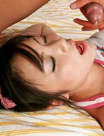 Haruna Katou Asian gets sperm in mouth and all over fish taco