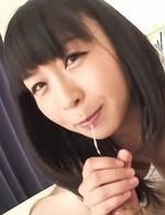 爆乳Fカップ羽月希ちゃんがジュルジュルとカメラ目線でバキュームフェラ。隠語で挑発して、そのまま口内射精!