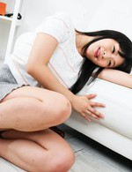 Nozomi Hazuki Asian licks joystick and man hand and rubs her clit