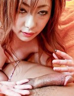 Arisa Suzuhusa Asian with hot tits rubs and takes cock in mouth