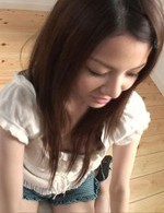 Rika Koizumi Asian gets sperm on her tongue and eats it all