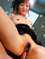 Mami Asakura Asian licks dicks and gets them in slit many ways