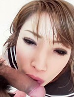Aya Sakuraba Asian in sailor gal uniform takes cock deep in mouth