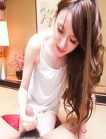 Mai Shirosaki Asian has her special ways of stroking joystick