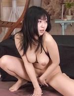 Nozomi Hatsuki Asian busty has clit aroused and sucks two dongs