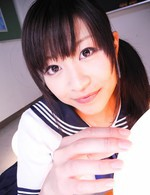 Aika Hoshino Asian with jugs out of uniform rides cock at office